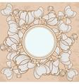 Floral grunge background vintage style vector image