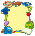 frame from school objects vector image vector image