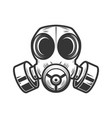 gas mask isolated on white background biohazard vector image