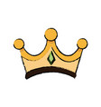 gold crown of wise king manger accessory vector image vector image