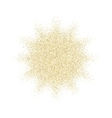 Golden glitter texture splash on white background vector image