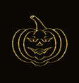 golden glittering pumpkin vector image