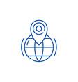 gps line icon concept gps flat symbol vector image vector image