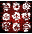 Graffiti White Emblems With Transparent Elements vector image vector image