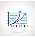 Growth chart color icon vector image