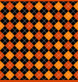 halloween argyle seamless pattern design vector image vector image