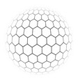 hexagon simple of a gray scale vector image vector image