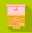 home beehive icon flat style vector image
