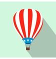 Hot air balloon with USA flag flat icon vector image vector image