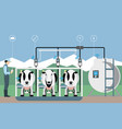 internet of things on dairy farm vector image vector image