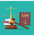law and justice set icon vector image