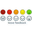 leave feedback satisfaction scales with color vector image vector image