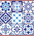 lisbon tiles design azulejo pattern vector image
