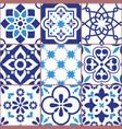 lisbon tiles design azulejo patttern vector image