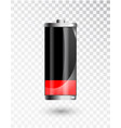 low battery battery charging status indicator vector image vector image