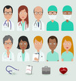 medical staff people doctors and nurses vector image