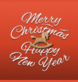 merry christmas and happy new year web banne vector image vector image