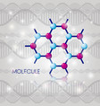 molecule structure chemical icon vector image vector image