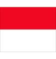 monaco flag vector image