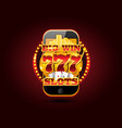 online gambling concept cellphone casino app vector image