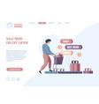 online store landing digital shopping business vector image