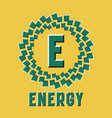 optical illusion energy logo in round moving frame vector image vector image