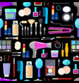 pattern of tools for makeup vector image vector image