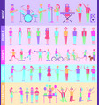people infographic activities vector image