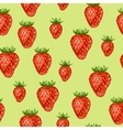Seamless pattern with red strawberries Decorative vector image vector image
