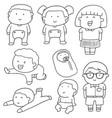 set of children vector image vector image