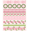 Set of Lace Paper with roses vector image