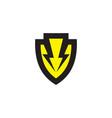 shield logo template concept vector image