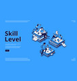 skill level isometric landing page education vector image vector image