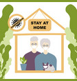 stay at home older people family consent self vector image vector image