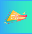 super sale banner 50 percent vector image vector image