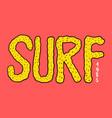 surf badge vintage surfer logo retro vector image vector image