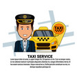 taxi service icons on white background with copy vector image vector image