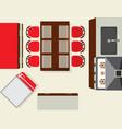 top view modern kitchen interior element vector image vector image