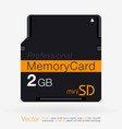 top view of mini sd memory card isolated on white vector image
