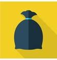 Trash Bag in Flat Design vector image