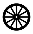 wagon wheel silhouette vector image