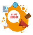 we are hiring business concept vector image