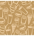 background with fast food seamless pattern vector image