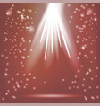 red rays of magic light vector image