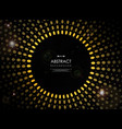 abstract of futuristic geometric yellow sun burst vector image