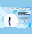 african american school girl chat bubble profile vector image