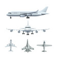 airplanes passenger realistic airplane army vector image vector image