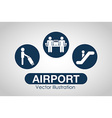 airport terminal design vector image vector image