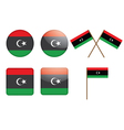 badges with flag of Libya vector image vector image