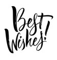 best wishes lettering vector image vector image